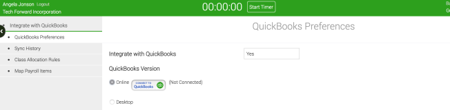 Connet to QuickBooks Online